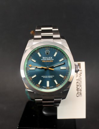 Milgauss, Blue Dial, Green glass